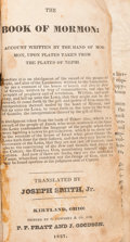Books:Religion & Theology, [Mormon Church]. [Joseph Smith]. The Book of Mormon. Account Written by the Hand of Mormon, ...