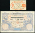 A Pair of Early Notes from Algeria. Very Good. ... (Total: 2 notes)