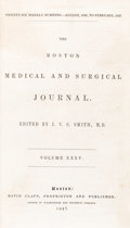 "Books:Medicine, Henry Jacob Bigelow. ""Insensibility during surgical operations produced by inhalation.""in The Boston Medical and Surgica..."
