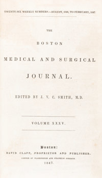 """Henry Jacob Bigelow. """"Insensibility during surgical operations produced by inhalation.""""in The Boston Medical a..."""