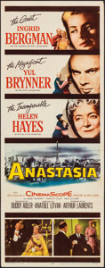 "Movie Posters:Drama, Anastasia & Other Lot (20th Century Fox, 1956). Folded, Fine/Very Fine. Inserts (2) (14"" X 36"") & One Sheet (27"" X 41""). Dra... (Total: 3 Items)"