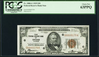 Low Serial Number 5179 Fr. 1880-G $50 1929 Federal Reserve Bank Note. PCGS Choice New 63PPQ