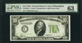 Small Size:Federal Reserve Notes, Fr. 2004-C $10 1934 Federal Reserve Note. PMG Choice Uncirculated 63.. ...