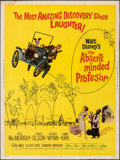 """Movie Posters, The Absent-Minded Professor (Buena Vista, 1961). Rolled, Fine/Very Fine. Poster (30"""" X 40""""). Comedy.. ..."""
