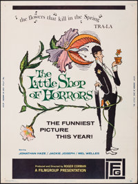 """The Little Shop of Horrors (Filmgroup, 1960). Rolled, Very Fine-. Poster (30"""" X 40""""). Comedy"""