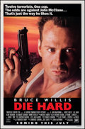 """Movie Posters:Action, Die Hard (20th Century Fox, 1988). Rolled, Fine/Very Fine. One Sheet (27"""" X 41"""") SS Advance. Action.. ..."""