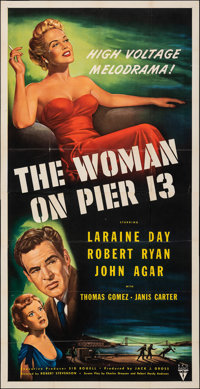 """The Woman on Pier 13 (RKO, 1950). Folded, Very Fine-. Three Sheet (41"""" X 79.5""""). Film Noir. From the Collectio..."""