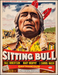 "Movie Posters:Western, Sitting Bull (United Artists, 1954). Fine+ on Linen. Trimmed Belgian (14"" X 18.25""). Western.. ..."