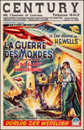 """Movie Posters:Science Fiction, The War of the Worlds (Paramount, 1953). Very Fine- on Linen. Belgian (14.25"""" X 22""""). Science Fiction.. ..."""