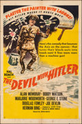 """Movie Posters:Comedy, The Devil with Hitler (United Artists, 1942). Folded, Fine. One Sheet (27"""" X 41""""). Comedy. From the Collection of Frank Bu..."""