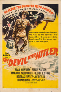 """The Devil with Hitler (United Artists, 1942). Folded, Fine. One Sheet (27"""" X 41""""). Comedy. From the Collection..."""