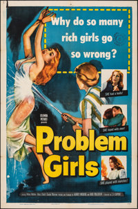 "Problem Girls (Columbia, 1953). Folded, Fine/Very Fine. One Sheet (27"" X 41""). Mystery"