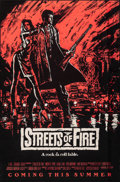"""Movie Posters:Action, Streets of Fire (Universal, 1984). Rolled, Very Fine-. One Sheet (27"""" X 41"""") Advance Red Style. Action.. ..."""