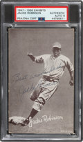 Baseball Collectibles:Others, 1950's Jackie Robinson Signed Exhibit Card, PSA/DNA Auto 9--Finest Known! ...
