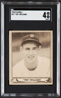 Baseball Cards:Singles (1940-1949), 1940 Play Ball Ted Williams #27 SGC VG/EX 4....
