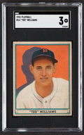 Baseball Cards:Singles (1940-1949), 1941 Play Ball Ted Williams #14 SGC VG 3....