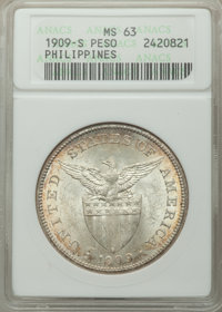 Philippines: USA Administration Peso 1909-S MS63 ANACS