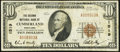 National Bank Notes:Maryland, Cumberland, MD - $10 1929 Ty. 1 The Second National Bank Ch. # 1519 Very Fine.. ...