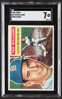 1956 Topps Ted Williams (White Back) #5 SGC NM 7