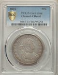 1802 50C O-101, T-1, R.3 -- Cleaned -- PCGS Genuine. Fine Details. Mintage 29,890. From The McDonald Family Collectio...
