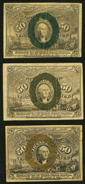 Fractional Currency:Second Issue, Fr. 1317 50¢ Second Issue Three Examples Fine.. ... (Total: 3 notes)