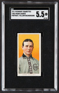 1909-11 T206 Piedmont Frank Chance (Portrait, Yellow Background) SGC EX+ 5.5