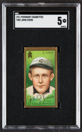 Baseball Cards:Singles (Pre-1930), 1911 T205 Piedmont Johnny Evers SGC EX 5....