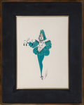 Paintings, Erté (Romain de Tirtoff) (Russian/French, 1892-1990). Costume Design for Cinderella. Gouache on paper. 13-3/4 x 10 inche...