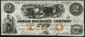 Obsoletes By State:Michigan, Adrian, MI- Adrian Insurance Company $2 18__ Remainder Choice About Uncirculated.. ...