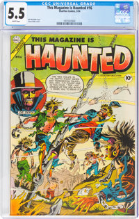 This Magazine Is Haunted #16 (Charlton, 1954) CGC FN- 5.5 White pages
