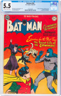 Golden Age (1938-1955):Superhero, Batman #62 (DC, 1950) CGC FN- 5.5 Off-white to white pages....