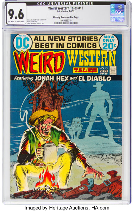 Weird Western Tales #13 Murphy Anderson File Copy (DC, 1972) CGC NM+ 9.6 Off-white to white pages....