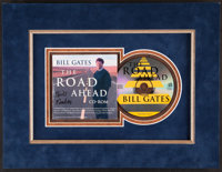 "1995 Bill Gates Signed ""The Road Ahead"" CD ROM"