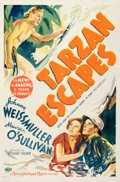 "Movie Posters:Adventure, Tarzan Escapes (MGM, 1936). Fine on Linen. One Sheet (27"" X 41"") Style C.. ..."
