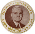 Political:Pinback Buttons (1896-present), Harry S Truman: One-Day Event Button. ...