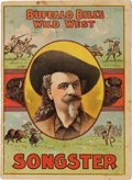 """Books:Pamphlets & Tracts, William F. """"Buffalo Bill"""" Cody Songster. ..."""