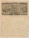 "Autographs:Celebrities, William F. ""Buffalo Bill"" Cody Autograph Letter Signed...."