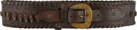 Frank James: Leather Gunbelt Belonging to the Notorious Outlaw