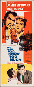 """Movie Posters:Hitchcock, The Man Who Knew Too Much (Paramount, 1956). Folded, Very Fine-. Insert (14"""" X 36""""). Hitchcock.. ..."""