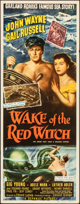 """Wake of the Red Witch (Republic, 1949). Folded, Very Fine-. Insert (14"""" X 36""""). Adventure"""