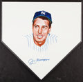 Autographs:Others, Joe DiMaggio Signed Original Artwork Home Plate....