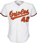 Baseball Collectibles:Uniforms, 1991 Mike Mussina Game Worn Baltimore Orioles Rookie Jersey, MEARS A10....