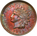 Indian Cents: , 1895 1C MS63 Red and Brown NGC. NGC Census: (85/301). PCGS Population: (186/388). CDN: $75 Whsle. Bid for NGC/PCGS MS63. Mi...