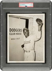 1947 Jackie Robinson Joins the Brooklyn Dodgers Original News Photograph, PSA/DNA Type 1