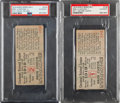 Baseball Collectibles:Tickets, 1919 World Series Games One & Two Ticket Stubs, PSA Authentic.... (Total: 2 item)