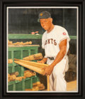 Baseball Collectibles:Others, 2000's Willie Mays Original Painting by Ron Stark....