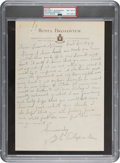 Baseball Collectibles:Others, 1946 Grover Cleveland Alexander Handwritten & Signed Letter about Cardinals Pennant Win, PSA/DNA NM-MT 8....