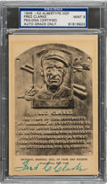 Baseball Collectibles:Others, 1946-52 Fred Clarke Signed Albertype Black & White Hall of Fame Plaque, PSA/DNA Mint 9....