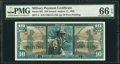 Military Payment Certificates:Series 681, Series 681 $10 PMG Gem Uncirculated 66 EPQ.. ...