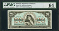 Series 661 $20 PMG Choice Uncirculated 64